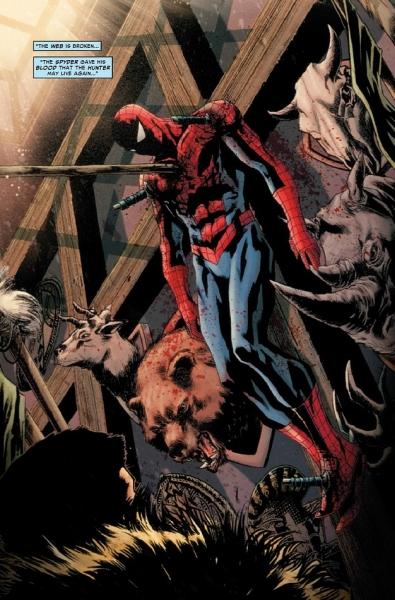 Человек паук арты