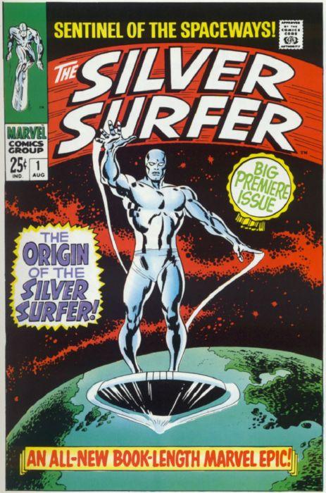 Картинки по запросу серебряный серфер комикс 1966 года